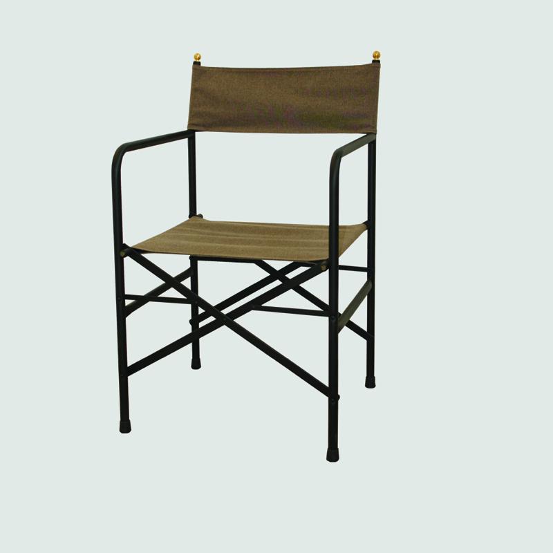 robusta sedia in metallo pieghevole